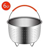 Steamer Basket for 6 Or 8 Quart Instant Pot Pressure Cooker, Sturdy Stainless Steel Steamer Insert with Silicone Covered Handle, Great for Steaming