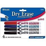 BAZIC Assorted Color Fine Tip Dry-Erase Marker