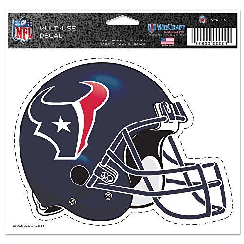 "NFL Houston Texans 4.5"" x 6"" Team Helmet Ultra Decal Cling"