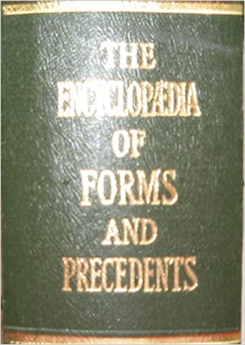 Encyclopedia of forms and precedents: various. : 9780406913555.