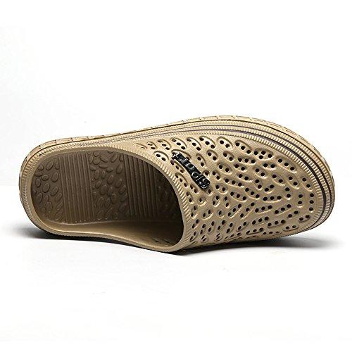 sandalias zuecos de transpirable jardín mujer caminar caqui de antideslizantes Unisex para color playa zapatos hombre de Gaatpot ligeros zapatillas 6CqwS4I