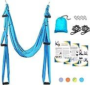 Sotech Aerial Yoga Swing Set, Yoga Hammock, Anti-Gravity Trapeze Sling Kit, Inversion Swing Exercises with 2 E