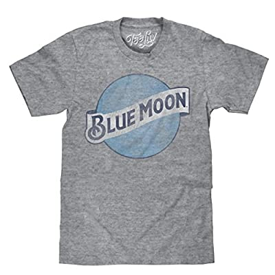 Blue Moon Brewing Company Color Logo Beer T Shirt | Soft Touch Graphic Tee Shirt