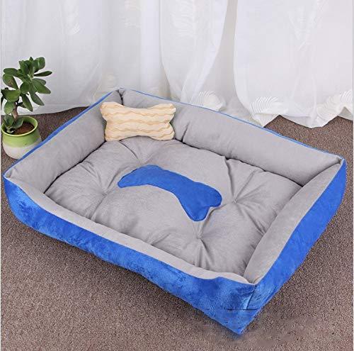 bluee S bluee S Pet Kennel cat Litter Insulation Four Seasons pet mat pet nest Bone pet Bed pet mat Dog cat Sofa pet mat (pet nest + Bone Pillow) (color   bluee, Size   S)