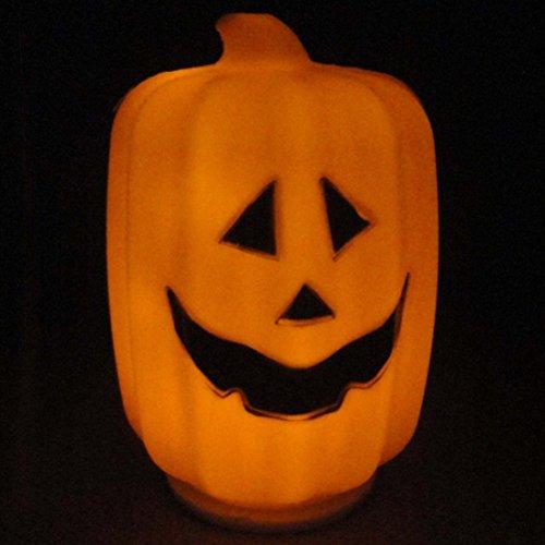 [1Pc Splendid Popular Halloween LED Nightlight Lamp Lantern Light Patterns Long Pumpkins Color] (Halloween Cut Out Patterns For Pumpkins)