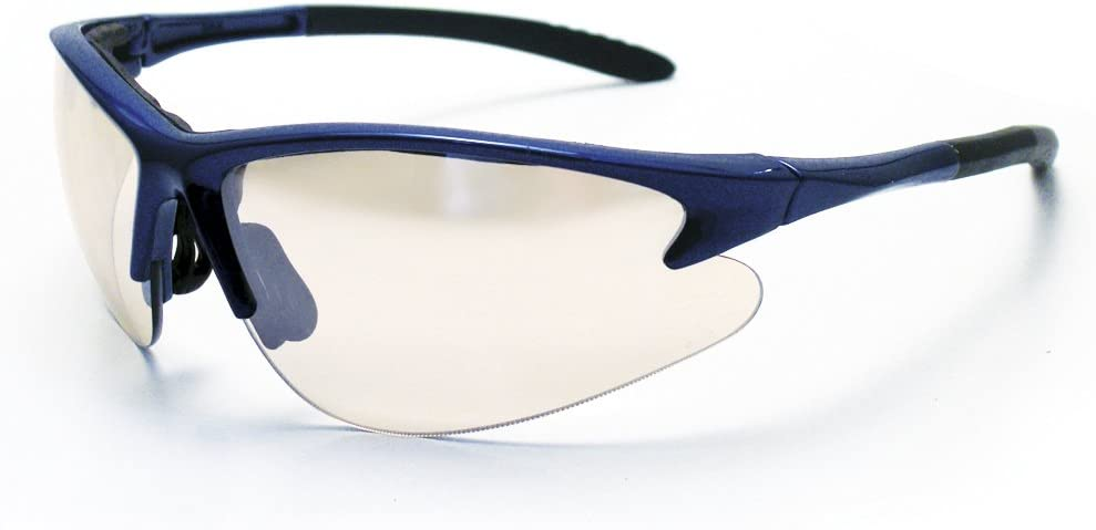 Indoor//Outdoor Lens//Blue Frame SAS Safety 540-0702 DB2 Eyewear with Polybag
