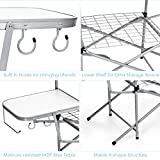 GYMAX Aluminum Folding Camping Table, Outdoor Grill