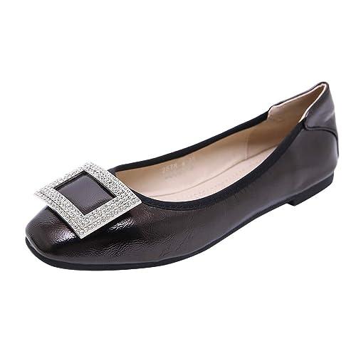 Mocasines Loafers Señoras Cuero Planos para Mujer Invierno - Zapatos Comodos Plataforma Cuña, Adecuado para Oficina y Uso Diario: Amazon.es: Zapatos y ...