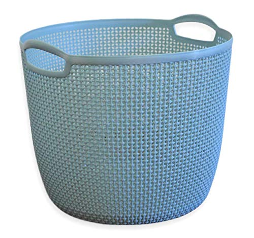 Cascadia Essentials XL Plastic Laundry Basket w/ Handles - Sturdy Hamper Bin For Organizing Toys, Laundry, Clothes and Blankets - Great in Living Room, Classroom, Nursery, Pantry