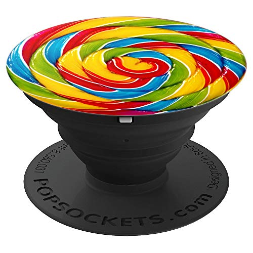 Colorful Candy Sucker Sweet Kawaii Gift for Girl - PopSockets Grip and Stand for Phones and Tablets