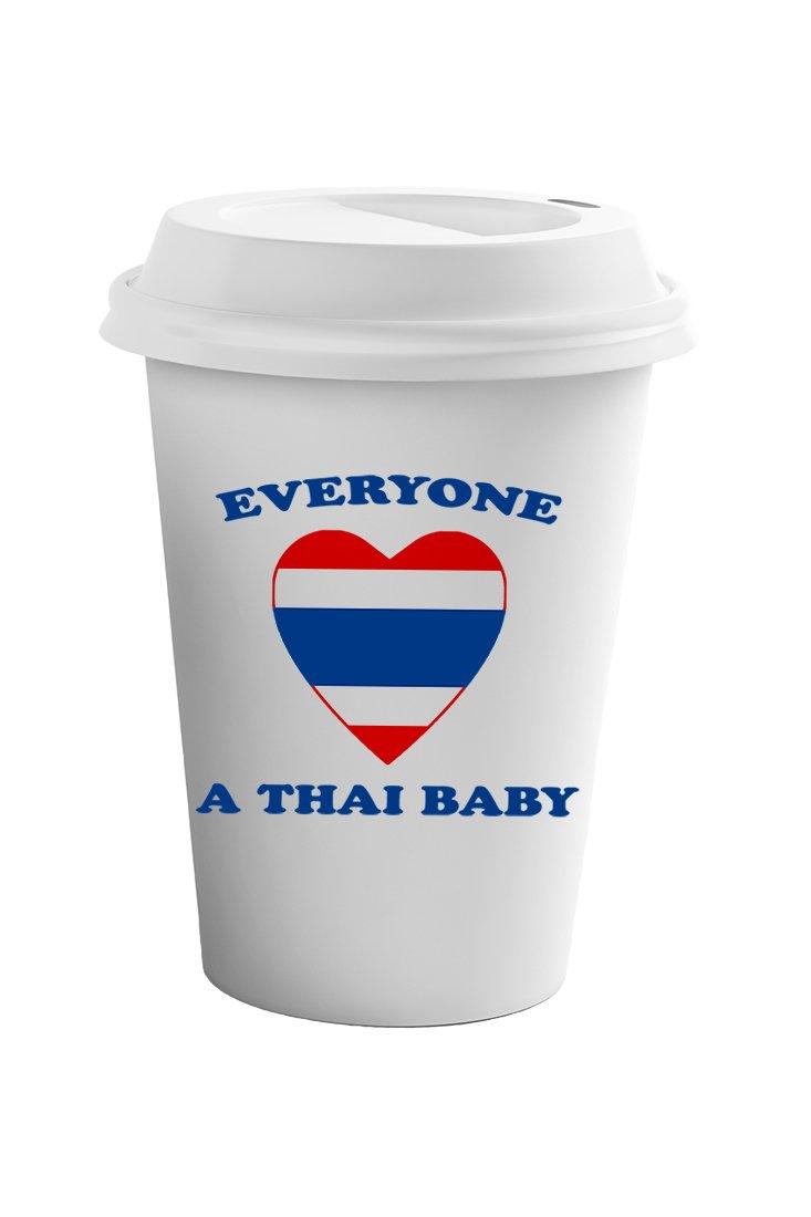 Style In Print Everyone Loves Thai Coffee Ceramic Travel Tumbler Mug 11oz