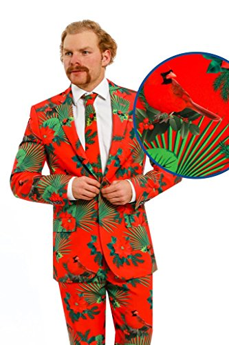 Ugly Christmas Sweater Suit - The Mele Kalikimaka (a.k.a. The Cardinal Hawaiian) Ugly Christmas Suit by (Holiday Hollie Costume)