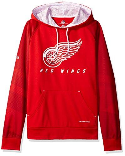 NHL Detroit Red Wings Men's Penalty Shot Program Hooded Fleece, Large, Athletic Red/White