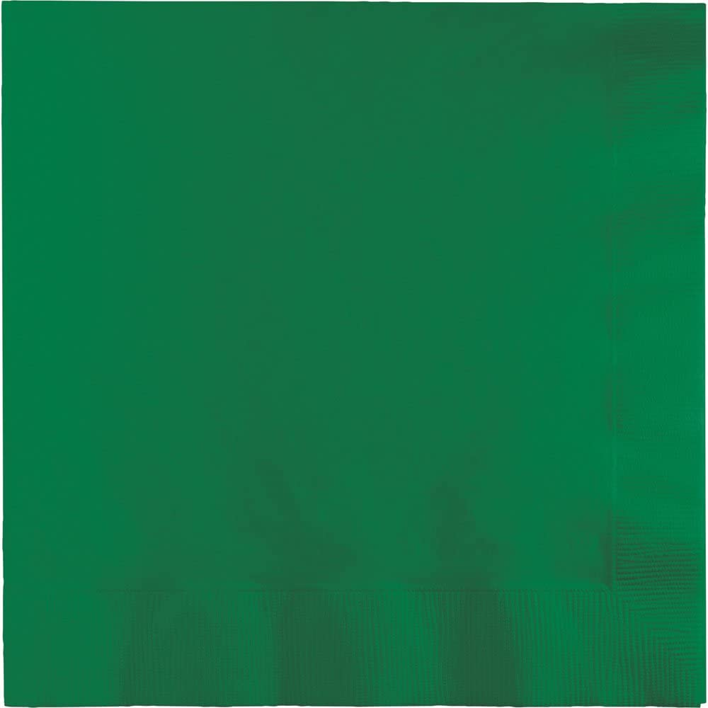 Touch of Color Paper Lunch Napkins, Emerald Green, 150-Count