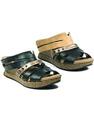 Modzori Myra Womens Mid Wedge Reversible Twister Sandal