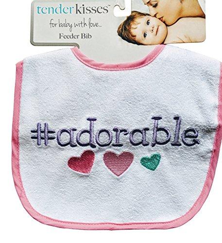 Tender Kisses Infant Embroidered Bib # adorable