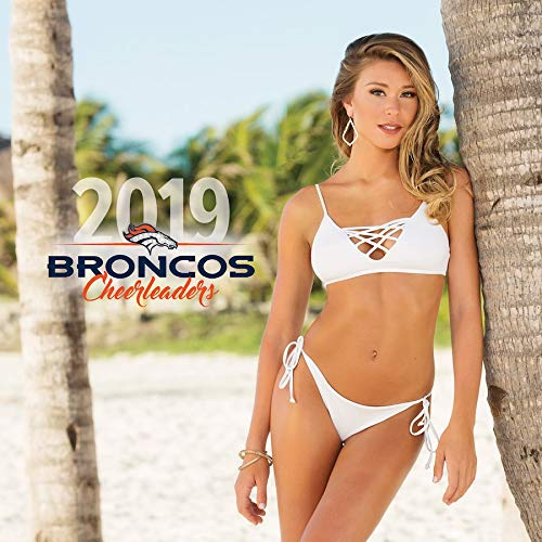 (Broncos Cheerleaders Wall Calendar 2019 Made in USA)