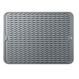 Best Dish Drying Mats - Silicone Dish Drying Mat,Easy Clean Dishwasher Safe Heat Review