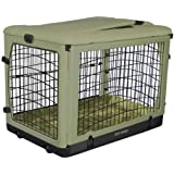 Pet Gear The Other Door Steel Crate with Fleece Pad for Cats and Dogs Up to 70-Pound, Sage