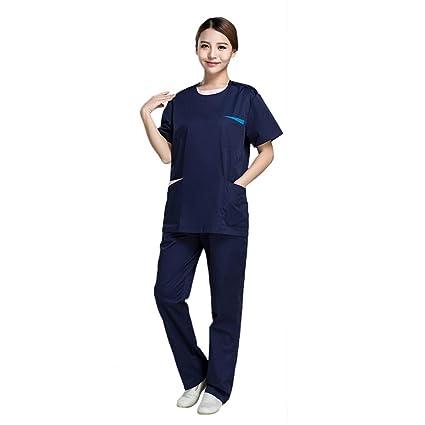 OPPP Ropa médica Uniforme de Enfermera médico quirúrgico Uniforme clínica Dental Ropa de Limpieza Traje de