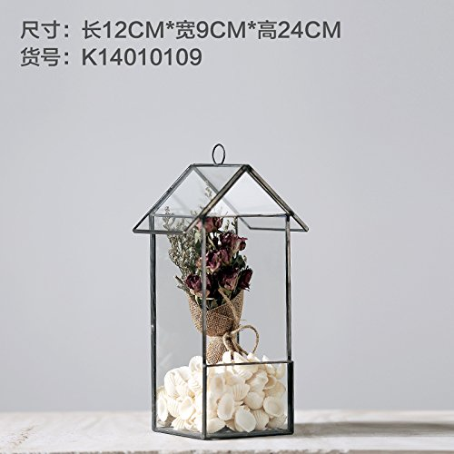 MENG Simple Modern Greenhouse Glass Ornaments Home Furnishing Geometric Jewelry Clothing Store Cafe Soft Mounted Display 09 (Including Accessories)