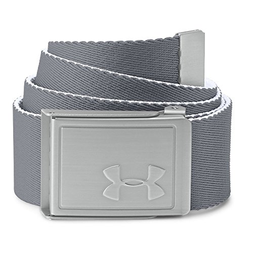 Under Armour Boys' Webbing 2.0 Belt, White /Silver, One Size
