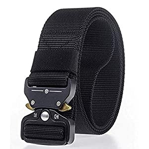 CONTACTS Men's Synthetic Quick Release Buckle Nylon Belt (Free Size)
