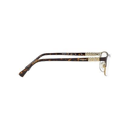 Vogue Women s VO4057B 997 54 Square Metal Plastic Brown Clear Eyeglasses at  Amazon Men s Clothing store  413528c0433