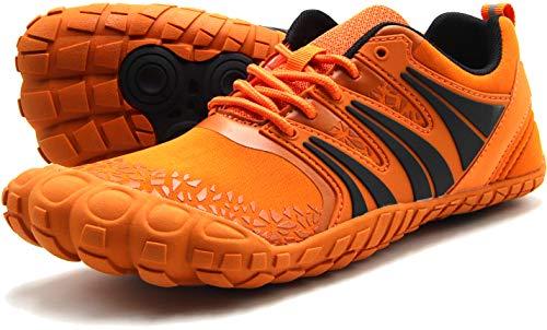- Oranginer Men's Minimalist Shoes Lightweight Comfortable Slip-on Cross Trainer Men Orange Size 8