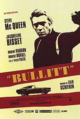 Bullitt - Steve McQueen French Style Yellow Movie Poster