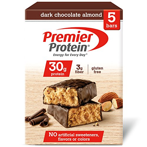 Premier Protein 30g Protein Bar, Dark Chocolate Almond, 2.53 oz Bars (Pack of 5)