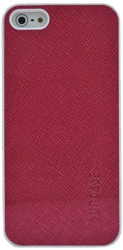 Suncase Ledercase für das  Apple iPhone 5 / 5S mit gratis Displayschutzfolie in vollnarbig-pink