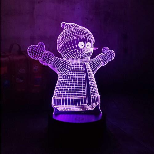 Día De Los Niños Regalo De De De Los Niños Muñeco De Nieve Lindo 3D Moderno Gradiente Led Ilusión Creativa Salón Fiesta En Casa Lámpara Cumpleaños Decoración Del Hogar Regalo 40ae5d