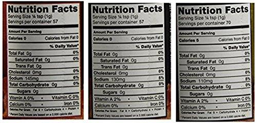 Bacon Salt Sampler Gift Set (5 Pack + Sticker) - Original, Hickory, Cheddar, Peppered & Jalapeno Bacon Flavored Salts Variety + Bacon Heart Sticker