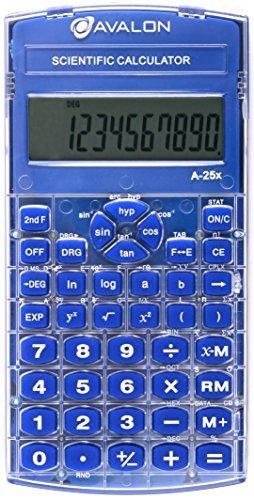 Avalon a,25 X Scientific Calculator、ブルー( Texas Instrumentsに匹敵関数電卓