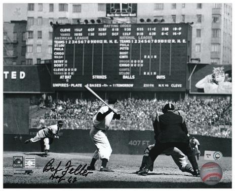 Bob Feller Cleveland Indians Autographed 8