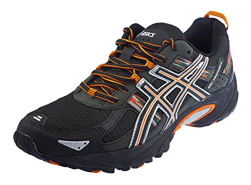 ASICS Men's Gel Venture 5 Running Shoe (11 D(M) US, Black/Shocking Orange/Duffel Bag) Mens Trail Running Shoes