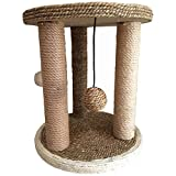YuheBaby Deluxe Cat Scratching Post Pole with Accessories, Sisal Teaser and Exerciser for Cats or Kitty