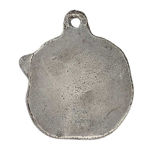 ArtDog Japanese Akita Necklace Silver Plated Dog Pendant on a Silver Chain Akita Inu