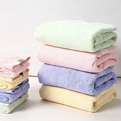 Ein paar der Erwachsenen aus weicher Baumwolle große Badetuch Kinder erhöhte Dicke Handtücher Wasser Startseite große Badetücher zu absorbieren, Hellgrün