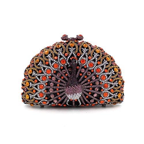 Portefeuille Paon sac de Rhinocéros luxe du Colorful b soir Parti à main sac sac wfxP6Yqxz