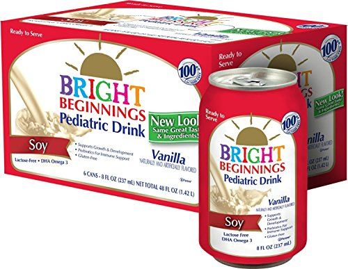 Vanilla Flavor Gluten Free Soy Pediatric Nutritional Drink, 8 OZ Cans, 6 Count (Pack of 4)