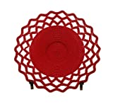 Red Telephone Wire Lace Bowl