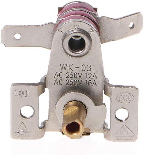JIACUO AC 250 V 16A R/églable 90 Celsius Interrupteur De Temp/érature Thermostat De Chauffage Bim/étallique KDT-200 Haute Qualit/é