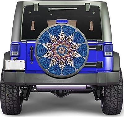 Yoga Mantra Mandala Sticker Full Color Spare Tire Cover Decal, Sticker Wheel Cover gc1591