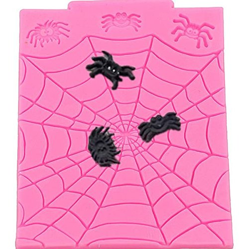 Spider Web and Spiders Silicone Mold