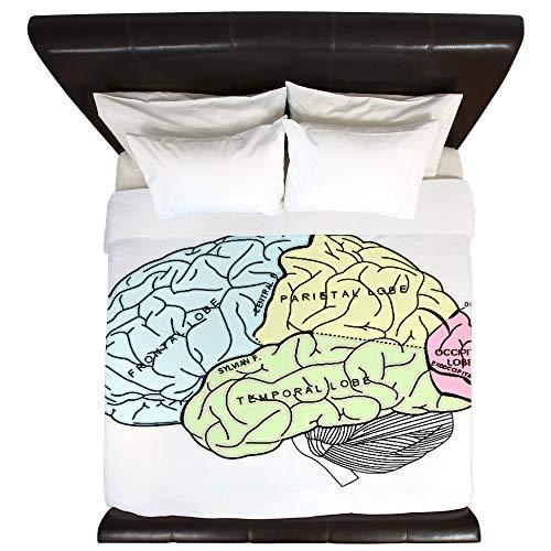 CafePress Dr Brain Lrg King Duvet Cover, Printed Comforter Cover, Unique Bedding, Microfiber