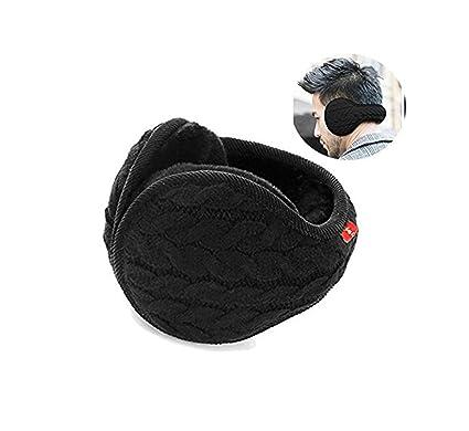 41f5dd6dc15 YIXIA Earmuffs Warm - Unisex Foldable Knit Cashmere Plush-Lined Earmuffs  Winter Earmuffs for Men
