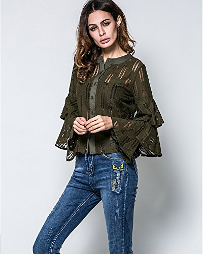Eorish - Camisas - para mujer OD Green
