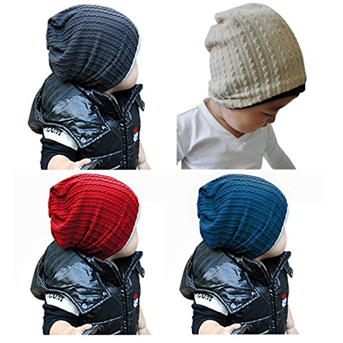 Goyestore Fashion Cute boy girl Trendy Baby Toddler child Hat Knit Beanie Warm Winter cap FBA (4 Pack)